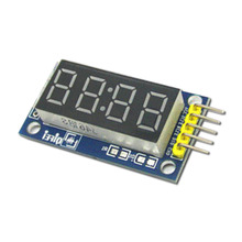 Free Shipping 4 Bits Digital Tube LED Display Module Four Serial for Arduino 595 Driver