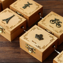 Antique Carved Wooden Music Box Christmas Gift New Year Birthday Boyfriend