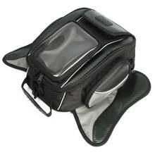 1 unid Pantalla Táctil Negro Tanque de Combustible de La Motocicleta Bolsa Alforja Bolsa de Moto Tanque De Aceite de Navegador