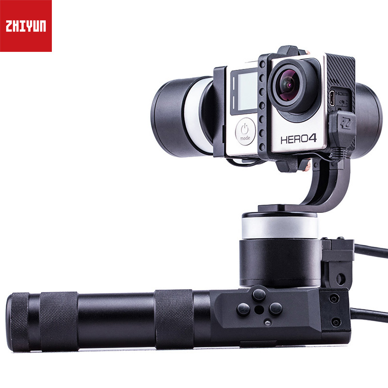 цена на ZHIYUN Z1 Rider2 Upgrade Version 3-Axis Steady Handled Gimbal wires stabilizer for Gopro Hero 3 4 XiaoYi SJ4000 Sport Camera