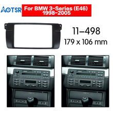2 Din coche estéreo Radio Fascia Panel placa marco CD Panel Audio marco para BMW Serie 3-E46 kit de accesorios para coche 1998-2005(China)