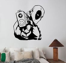 Deadpool Wall Sticker Comics Superhero Vinyl Decal Art Kids Boys Room Decor E588