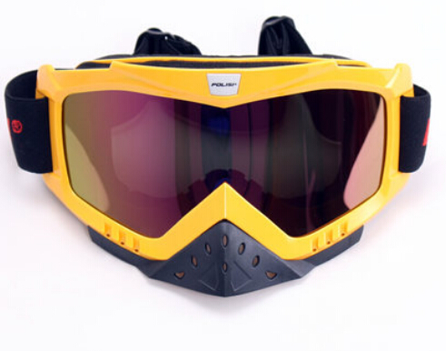 New 2015 Polisi Motocross Off-road Outdoor Sports Glasses Snowmobile Motorcycle Ski Windproof Goggles Clear Lens