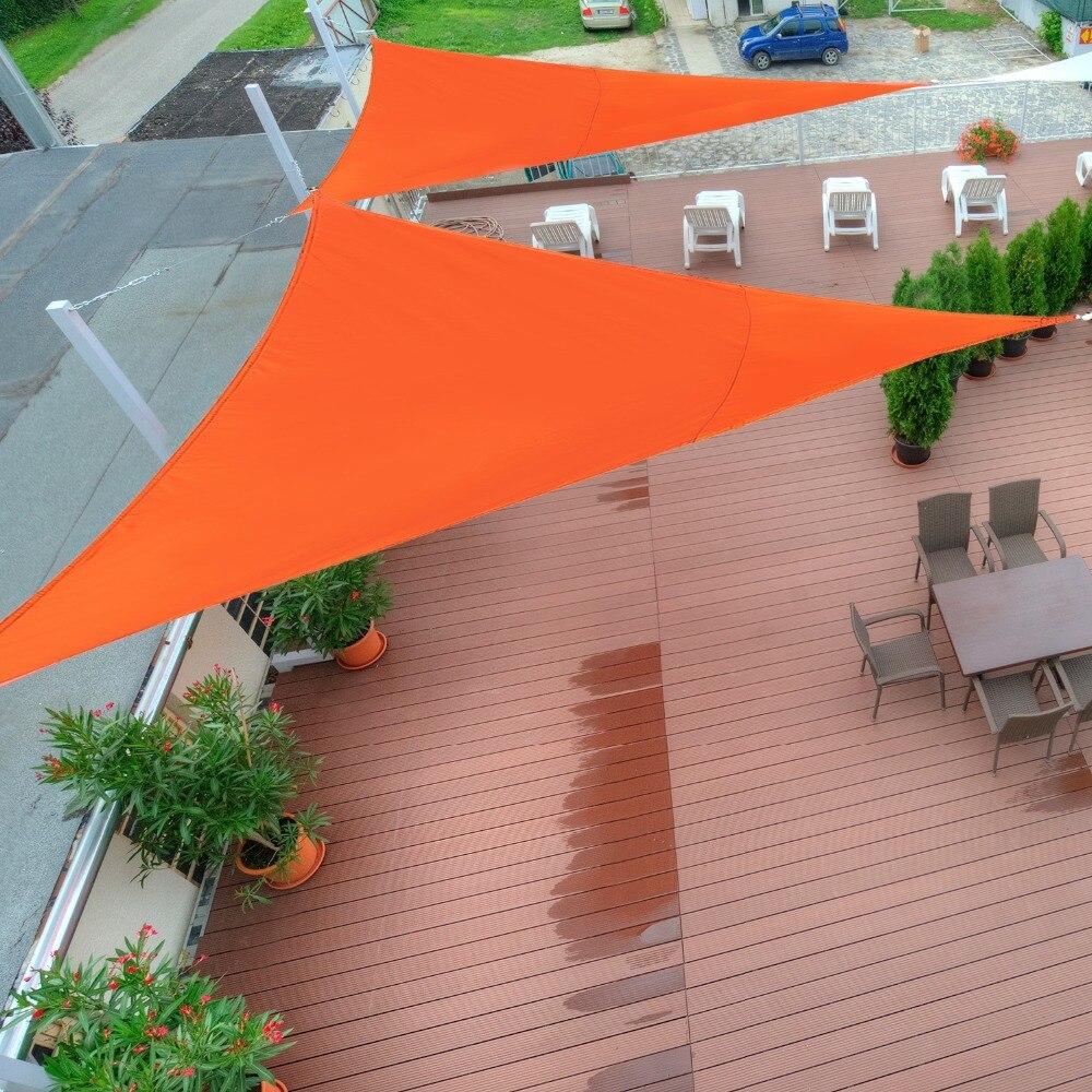 Outsunny Toldo Vela Triangulo Tipo Sombrilla O Parasol Para Terraza - Tela-para-jardin