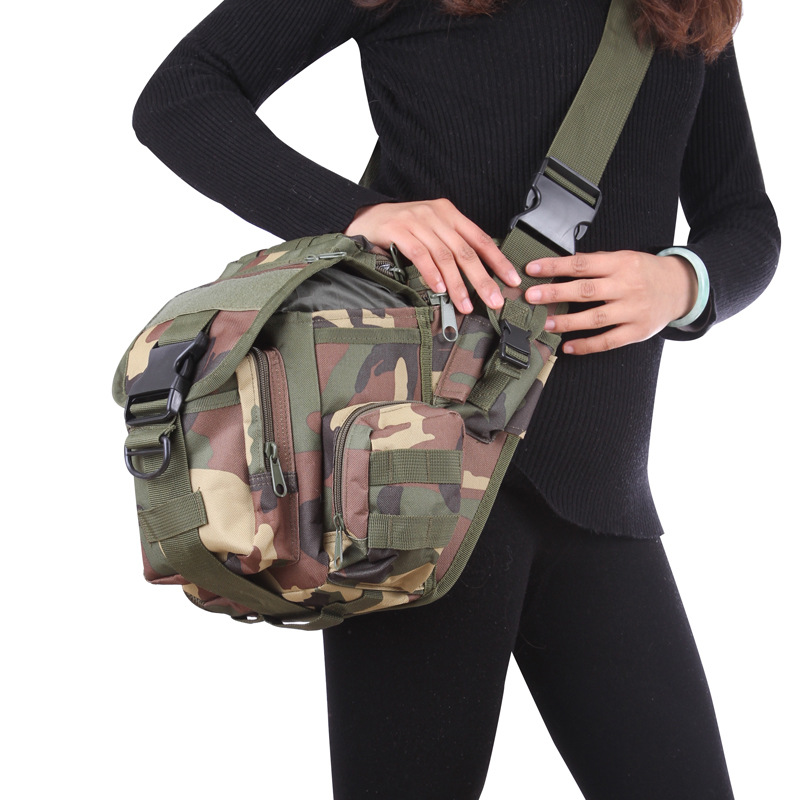 outdoor men women Camouflage Multifunction Saddle bag tactical Military waterproof Shoulder Messenger pack Camera Waist bag outlife new style professional military tactical multifunction shovel outdoor camping survival folding spade tool equipment