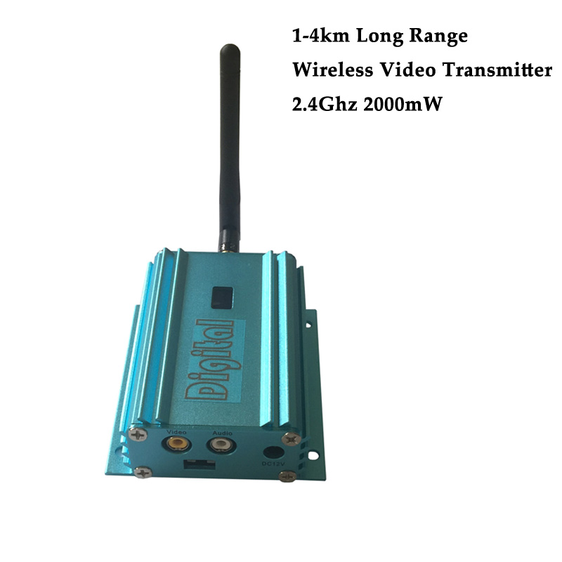High Power 2.4G 12 Channels 4000m Distance Wireless Video Transmitter - Camera and Photo