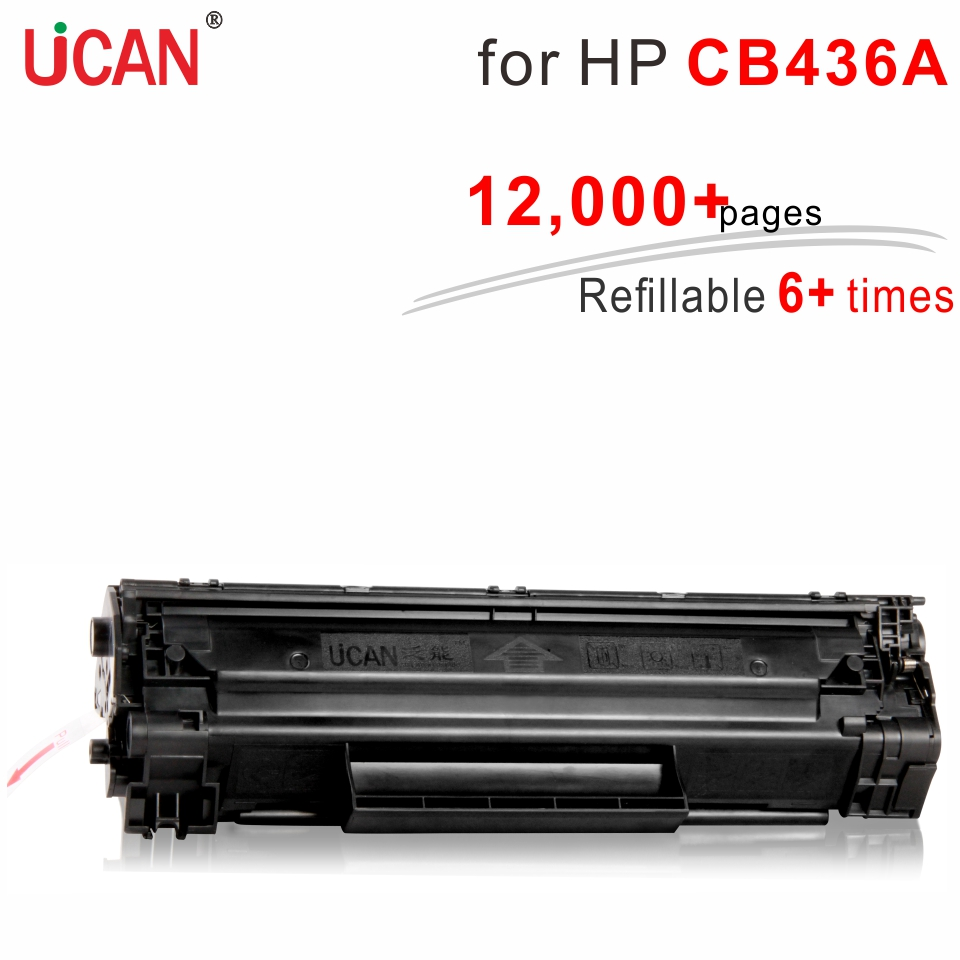 6 times Super Durable 36a CB436a Toner Cartridge for Hp laserJet M1120 1505 P1505 M1522n M1522nf MFP Printer