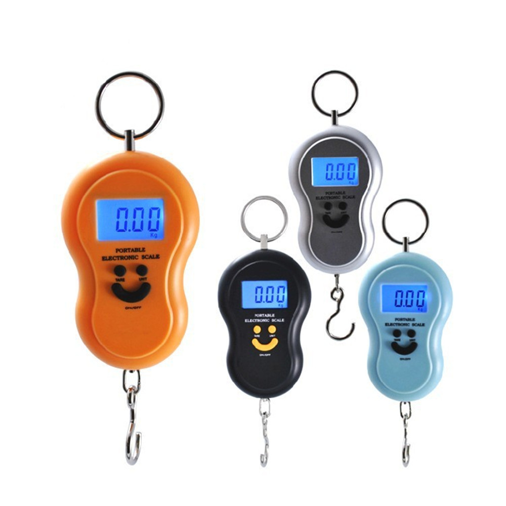 50Kg /10g Hanging Scale Digital Scale Backlight Pocket Weight Scale Luggage Scales Kg Lb OZ Travel Accessories