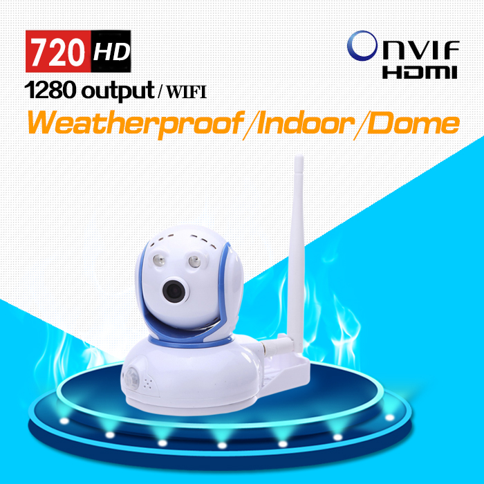 Wireless PIR IP Camera 720P 1.0MP HD Network CCTV Camera with Pan/Tilt Rotation and Two Way Audio Free P2P howell wireless security hd 960p wifi ip camera p2p pan tilt motion detection video baby monitor 2 way audio and ir night vision