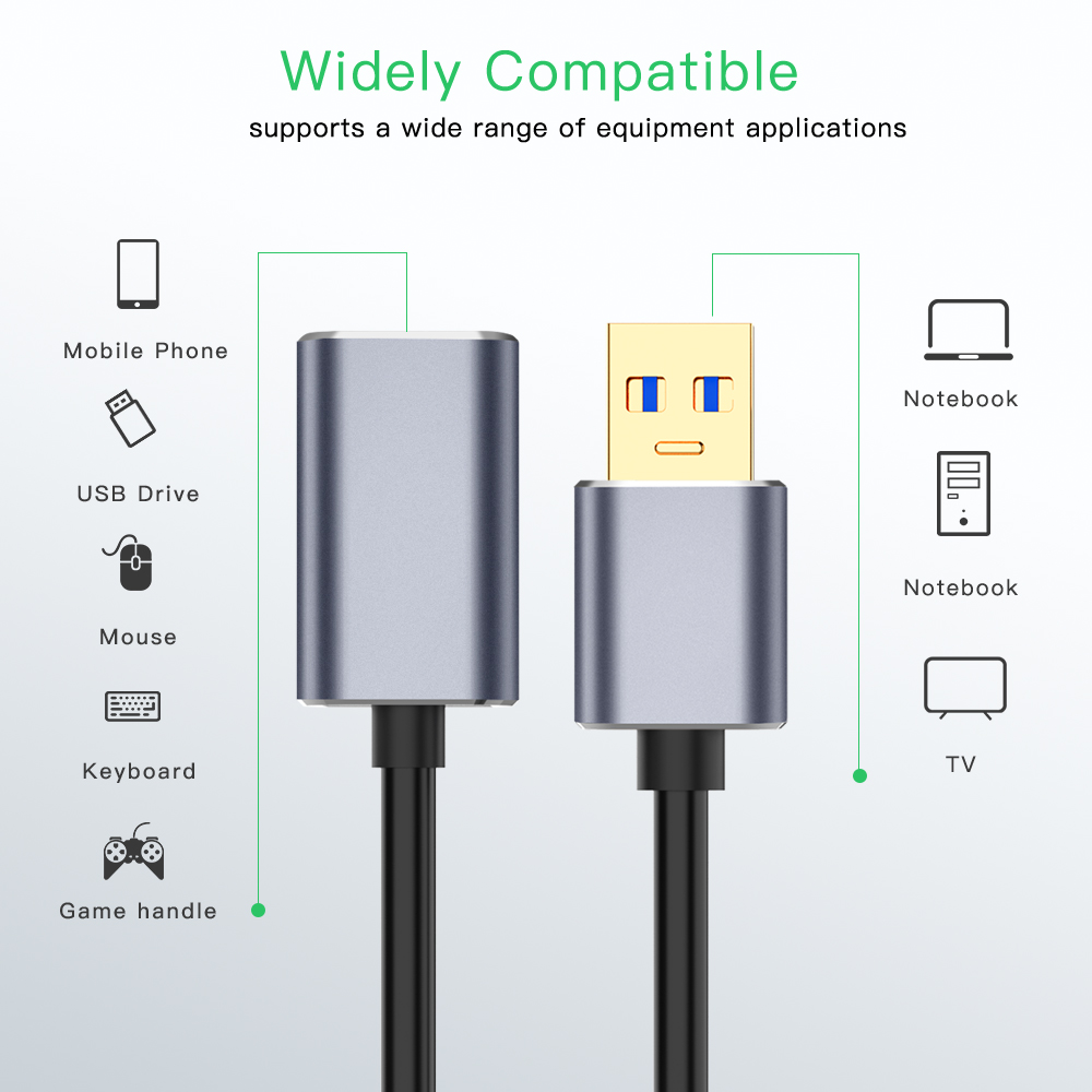 USB 3.0 Cable USB3.0 Extension Extender Male To Female Cabo USB Data Cables For PC Keyboard Printer Camera Mouse Game Controller