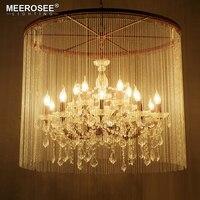 Vintage Kristallen Kroonluchter Armaturen Roest Opknoping Lustre Zwart Suspension Lamp voor Hotel Project Woondecoratie woonkamer