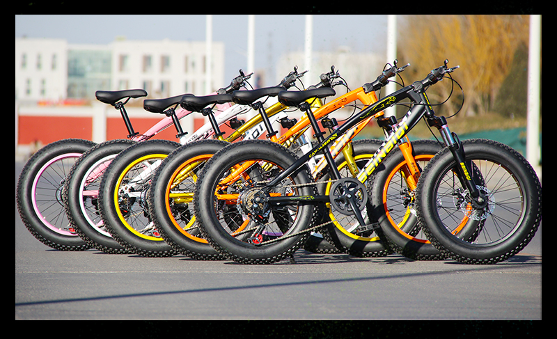 HTB1EklJShTpK1RjSZFKq6y2wXXaG KUBEEN mountain bike 21 speed 2.0 inch bicycle Road bike Fat Bike Mechanical Disc Brake Women and children bicycles