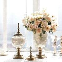 Год сбора винограда способа стекло ваза украшения искусственный цветок набор аксессуары для дома новый дом украшение свадебный подарок