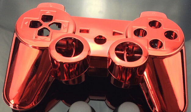 Custom chrome rojo color de Shell para controlador de PS3 chrome red Shell Kit Mod sin piezas pequeñas