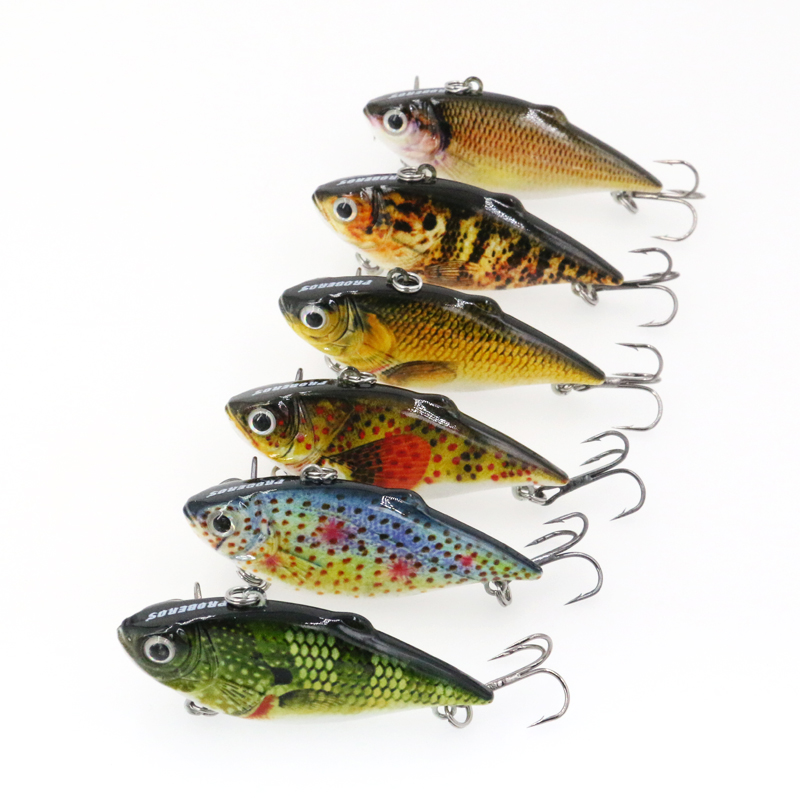 Vissen 6pcs Wobbler Pike Jerkbaits Fishing Lure Crankbait Fishing Bait Peche Artificial Bait 8.6g 64mm Kosadaka Pesca Tackle