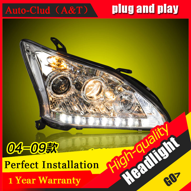 Auto Clud Car Styling For Lexus RX350 led headlights For RX350 head lamp led DRL front light Bi-Xenon Lens Double Beam HID KIT auto pro for honda fit headlights 2014 2017 models car styling led car styling xenon lens car light led bar h7 led parking