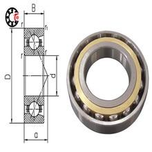 25 мм диаметр радиально-упорный подшипник В 7005 C/P4 25 мм Х 47 мм Х 12 мм, связаться угол 15, ABEC-7 станок