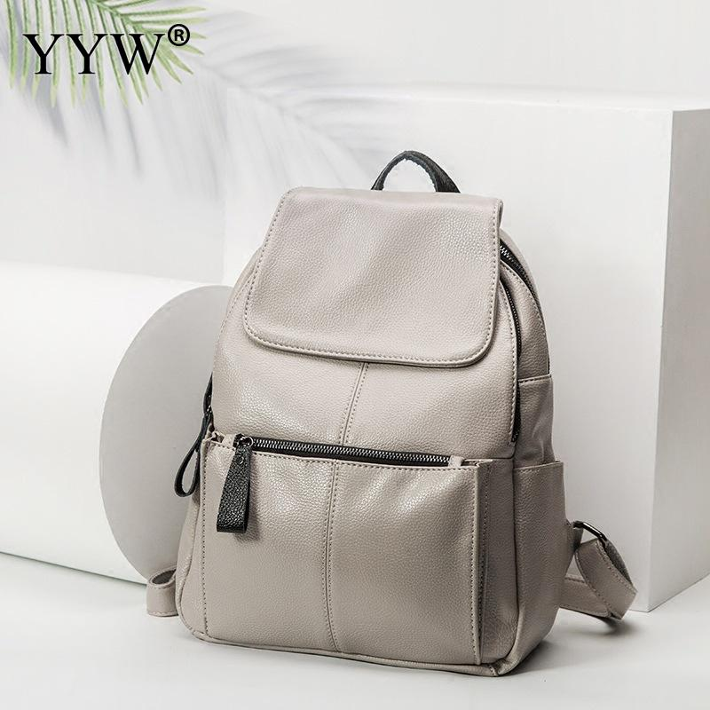 Casual Backpack Student Bookbag Travel Waterproof Women Mochilas Outdoor-Bag Cloth Oxford