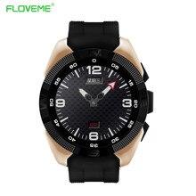 Floveme bluetooth männer smart watch schrittzähler herzfrequenz anruf anti-verlorene smartwatch android ios tragbare geräte uhren armbanduhr