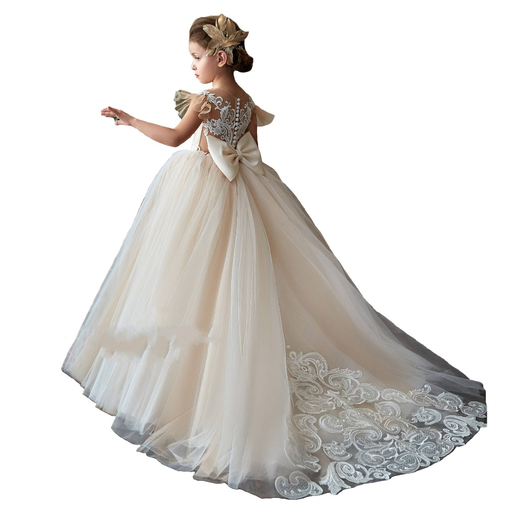 ba29cd4a89c Lace Champagne Flower Girl Dresses - Data Dynamic AG