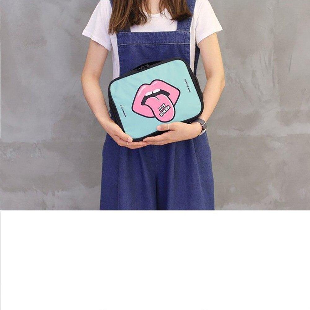 Woman Cartoon Printing Waterproof Oxford Portable Travel Cosmetic Zipper Bag Boarding Luggage Storage Large Capacity Bag 10Sep25