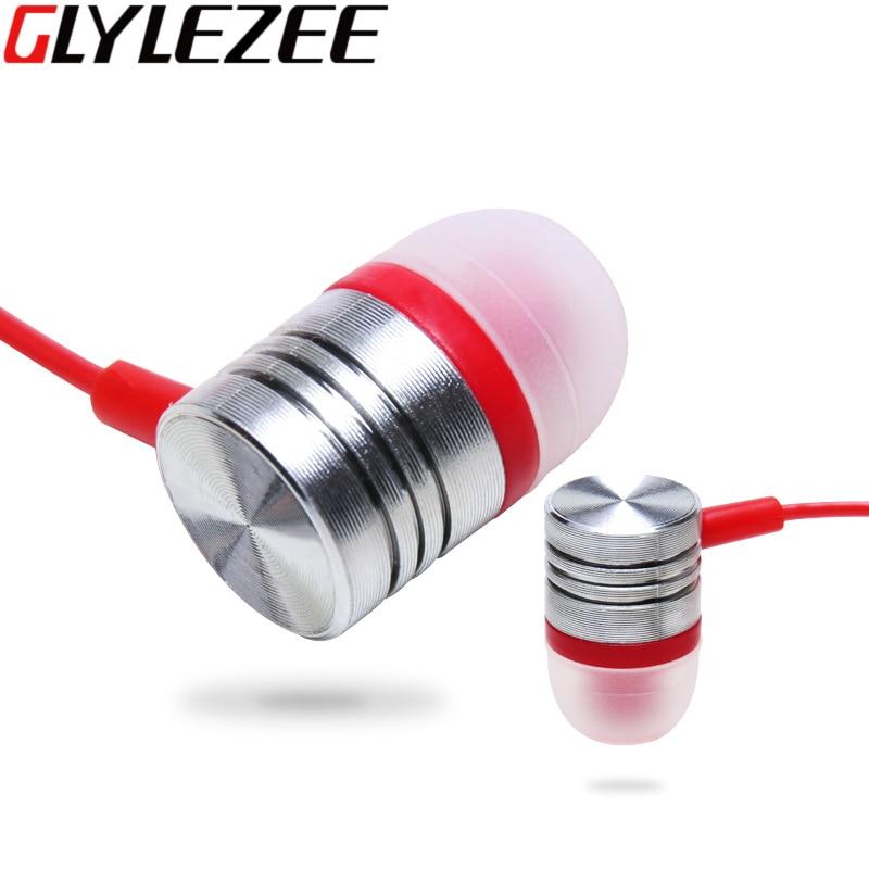 Glylezee Crystal Earphone Headset MP3 Music Earpieces Heavy Bass 3.5MM Jack Universal for Smart Phone Xiaomi iPhone