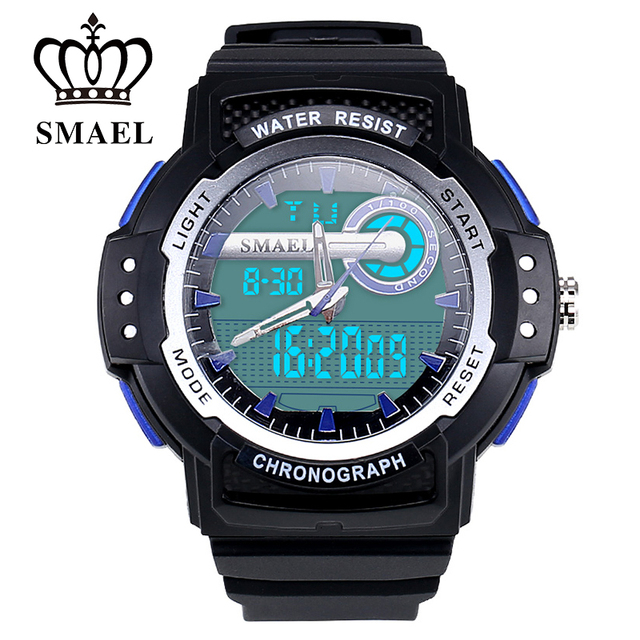 SMAEL 50m Waterproof Man SportWatches LED Digital Stopwatch Quartz-watch Fashion Gifts Men Clock Handiness Relogio Masculine1503