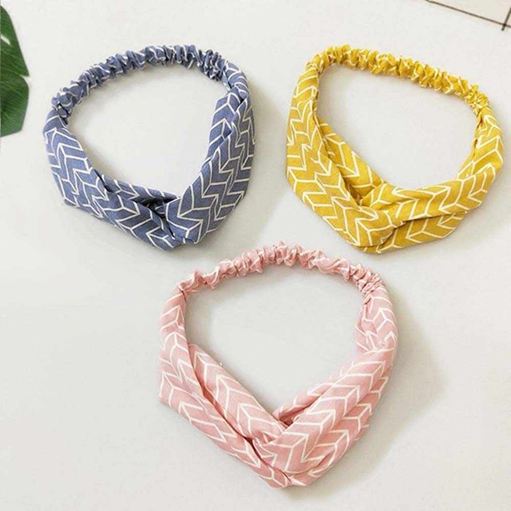 Women Headband Vintage Cross Knot Elastic Hair Bands Soft Solid Girls Hairband Hair Accessories Spring Autumn