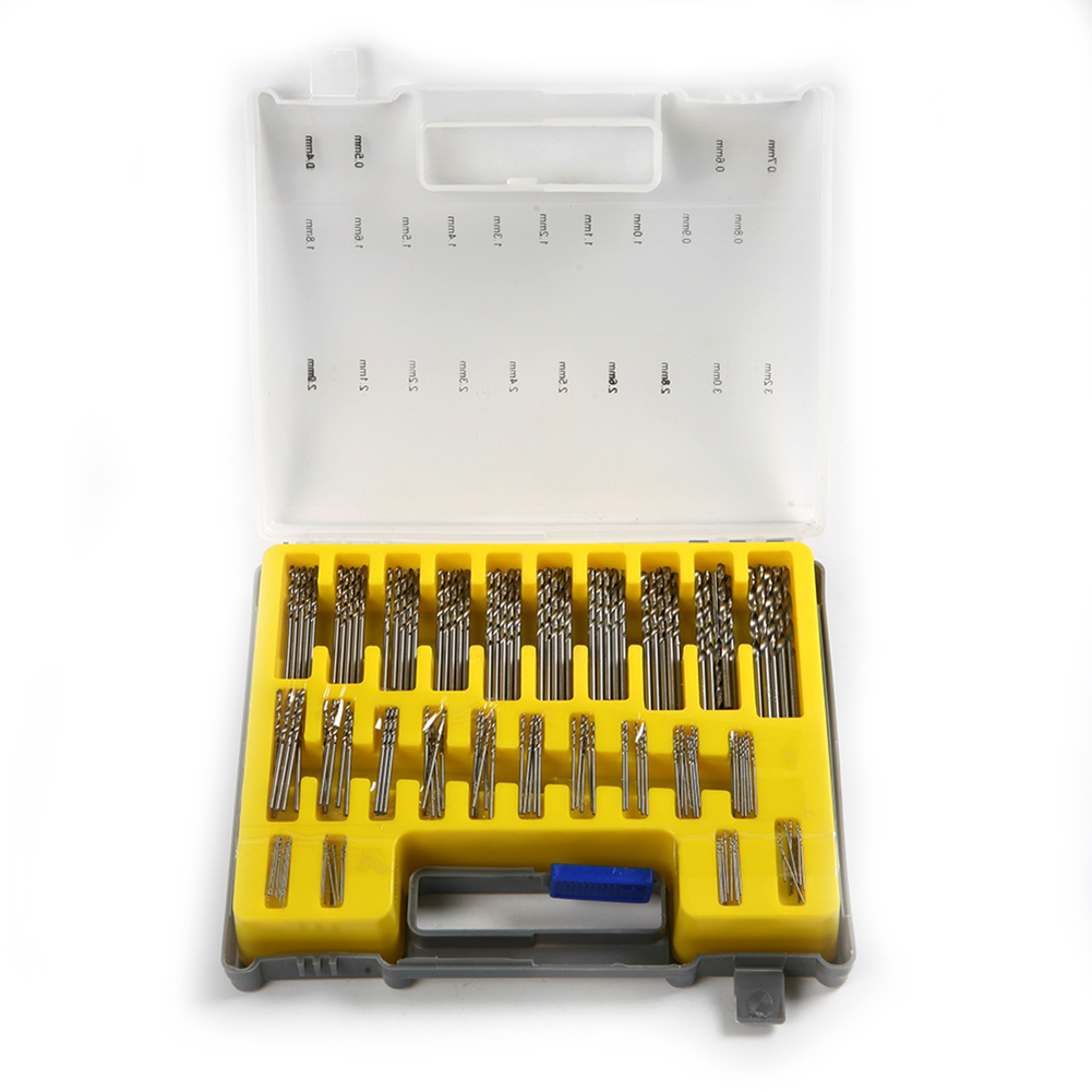 150pcs Mini Power Rotary Precision HSS Micro Twist Drill Bit Set Auger 0.4-3.2mm new 10pcs jobbers mini micro hss twist drill bits 0 5 3mm for wood pcb presses drilling dremel rotary tools