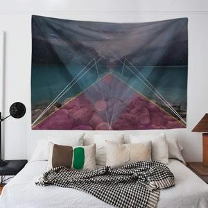 Image 4 - Natürliche Landschaft Sonne Mond Psychedelic Indian Tapisserie Wand Hängen Strand Handtuch Decke Wohnheim Bauernhaus Historischen Boho Dekor Hause