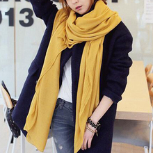 Autumn And Winter Ladies Monochrome Cotton Linen Scarf Summer Beach Soft Shawl Retro Solid Color Hot
