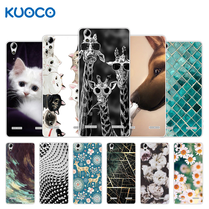 Silicone Cover for Lenovo A 6000 A6000 / A <font><b>6010</b></font> A6010 Plus K3 / K30 K30-t K30-w Giraffe Design Case for A 6000 A6010 Plus image