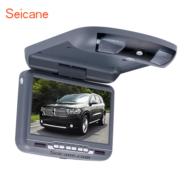 Seicane Roof Mount 9  TFT DVD Player with FM USB SD Games Support the newest 32 Bit+8 Bit games wirelessgame controller Car Kit бинокль bushnell powerview roof 8–16x40