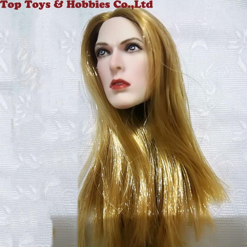 1//6 Biohazard Alice Blond Female Head Sculpt F TBL Phicen Pale Figure Body Dolls