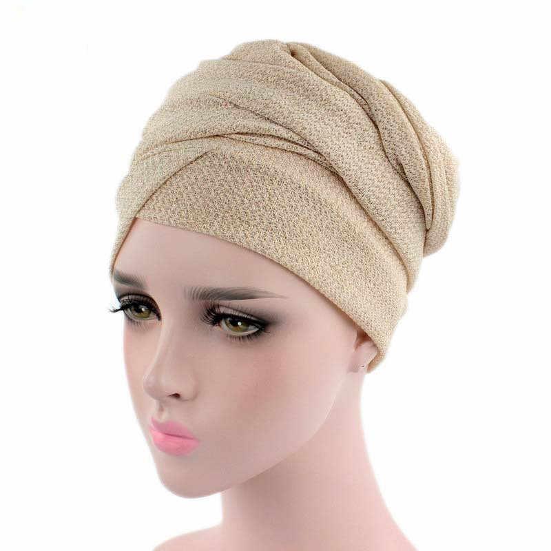 Helisopus женская новая Яркая Цветная стрейчевая ткань шапка шарф для девушек аксессуары для волос модная головная повязка обернутая передние и задние колпачки