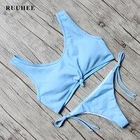 RUUHEE Bikini 2017 Swimwear Women Push Up Bandage Brazilian Biquini Swimsuit Summer Beach Bathing Suit Sport