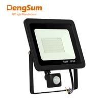 Reflector Led de inducción con Sensor PIR ajustable, luz cuadrada para exteriores, de calle, 10W, 20W, 30W, 50W, 100W, 110V, 220V