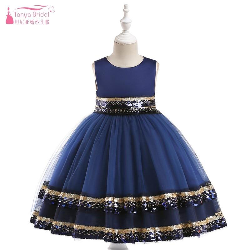 Robe de bal robes de fille de fleur pour les mariages 2019 petite fille Comunion robe noir Champagne bleu rouge fleur filles robe JQ102