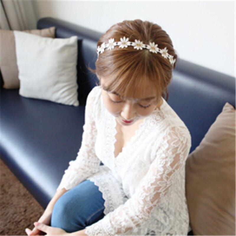 Flower hair bandeaux daisy floral elastic headband stretchy band boho hairband