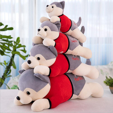 цена на Husky Dog Short Plush Toy Stuffed Animal Doll Toys Plush Pillow Children Birthday & Christmas Gift