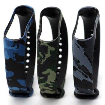 10Pcs/set Camouflage Wristband For Xiaomi Band 3 4 Bracelet Wrist Strap Silicone For Xiomi Xaiomi Xiami Xaomi Mi Xaiomy