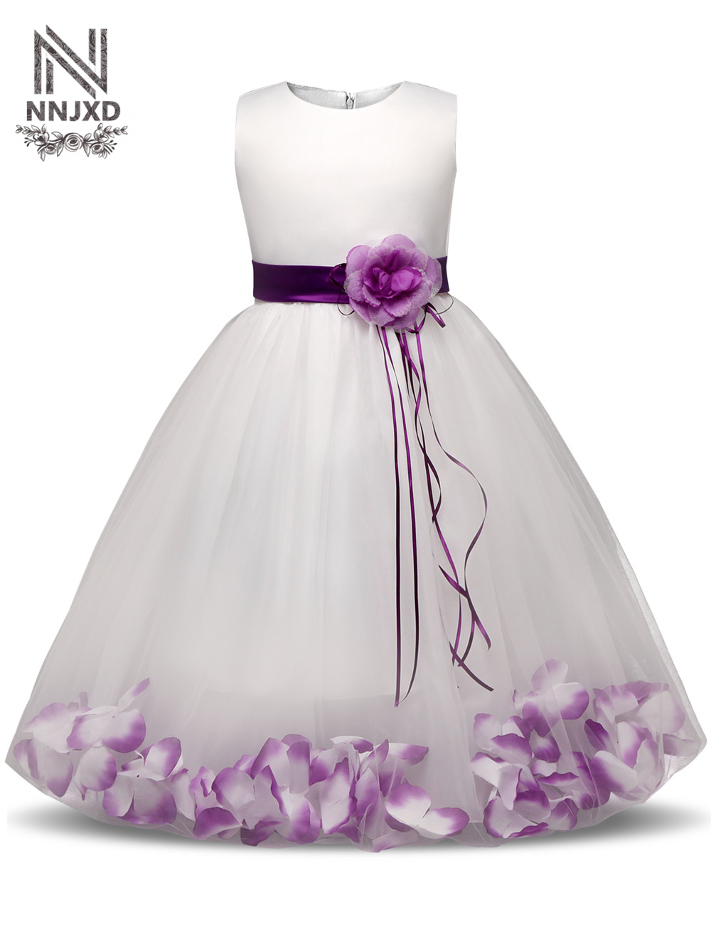 Kids Party Costume For Girls Prom Dresses Children's Clothing Girl 10 Years Princess Flower Dress For Wedding Birthday Outfits princess dress rose flower girl dress summer wedding birthday party dresses for girls children s costume teenager prom dress