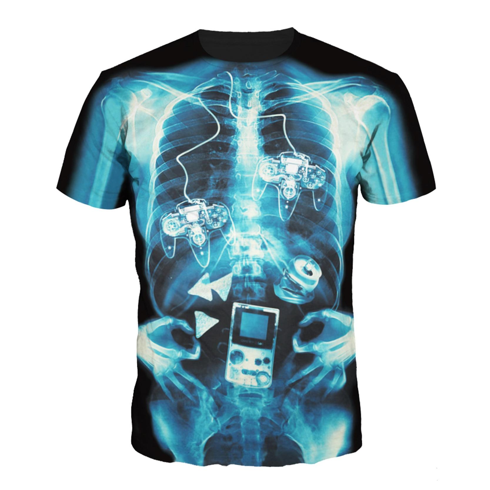 Human design t shirt - Trendy Men T Shirt Mysterious Human Skeleton Bright Punk Rock Design 3d Print Short Sleeve T Shirt Best Friends Gift In T Shirts From Men S Clothing