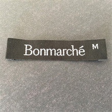 Customized clothing tags washable garment labels custom woven for brand name logo