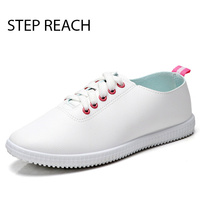 STEPREACH Brand Shoes Woman Flats Women Lace Up Zapatos Mujer Schoenen Vrouw Mocassim Feminino Anti Slip