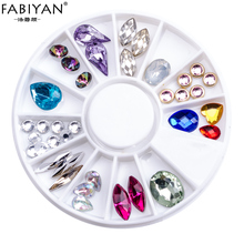 FABIYAN Nail Art Wheel Decoration Flat Back Rhinestones Crystal Gems Mixed  Shape Tips 4594e1ce64c0