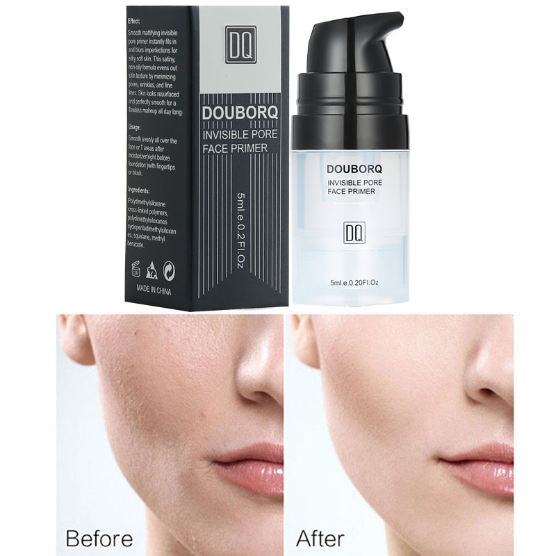 Face Base Primer Makeup 5ml Matte Make Up Fine Lines Oil-control Facial Cream Brighten Nude Foundation Cosmetic image