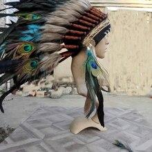 Бирюзовое перо головной убор повязка на голову для вечерние костюм для мероприятия поставка 21 дюймов полный высокий