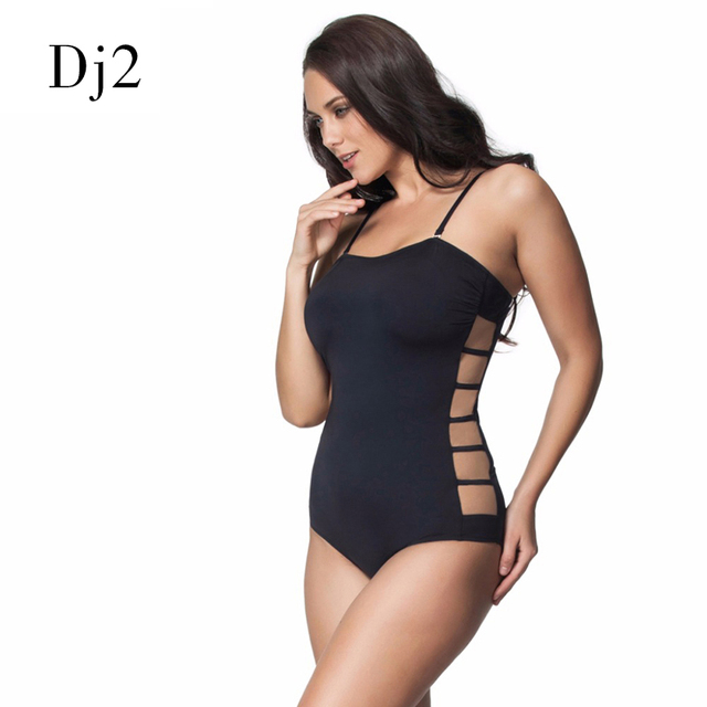 b773e5109cf0 New Sexy Hollow Out Lace Women s Swimwear Side Cut Transparent Mesh Bathing  Suits Brand Plus Size One Piece Swimsuits Monokini