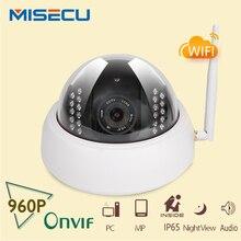 Nueva cámara del ip de 960 p 1280*960 P Audio onvif cámara IP Wifi cúpula P2P, Cámara de Interior DEL IR de Visión Nocturna CCTV de Seguridad de red IP CCTV